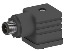 Coax valve with M12x1 electrical connector
