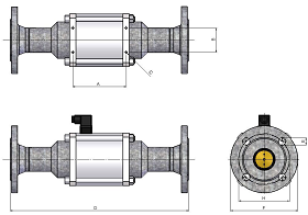 flanged coaxial solenoid valves