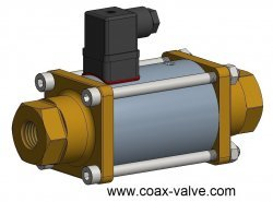 2/2 coaxial solenoid valve normally closed